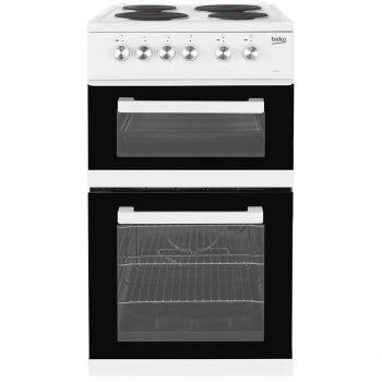 Beko KD531AW 50 Cm Twin Cavity Electric Cooker