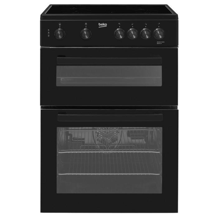 Beko KDC611K 60cm Double Oven Electric Cooker