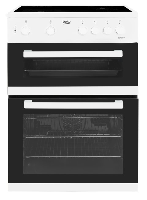 Beko KDC611W 60cm Double Oven Electric Cooker