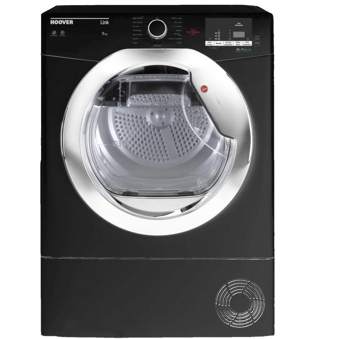 Hoover 9kg Load Hlc9dceb Condenser Tumble Dryer, Black