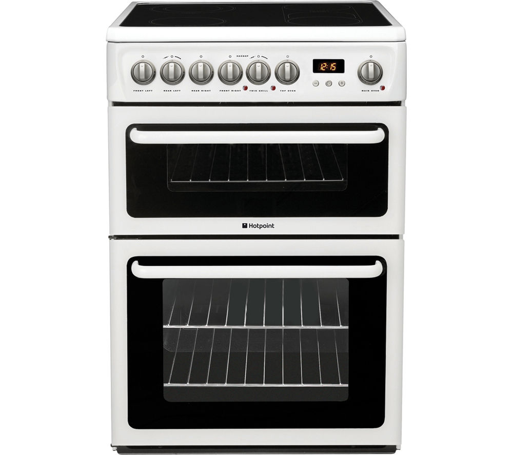 Hotpoint HAE60PS Double Electric Cooker